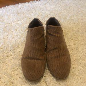 Dr Scholl's Brown suede Shoeties
